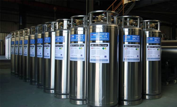 Chai chứa lỏng Oxy, Nito, Argon