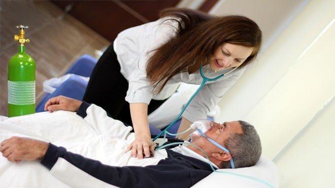 sử dụng khí oxy thở tại nhà cho bệnh nhân