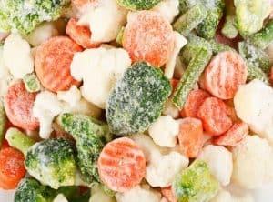 đá khô bảo quản thực phẩm rau