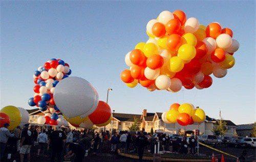 Khí Helium được sử dụng trong bơm bóng bay, bơm khí cầu và bóng cá bay