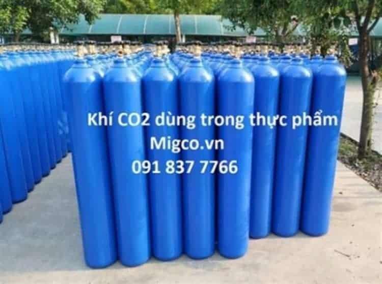 bình khí co2 dùng trong thực phẩm