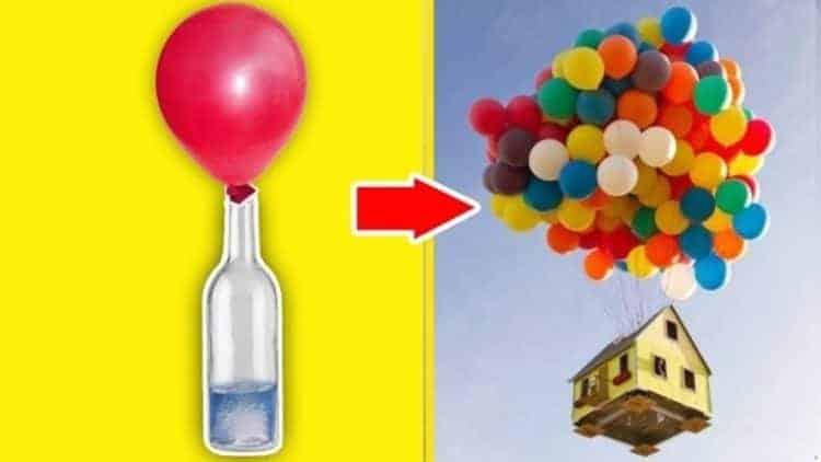 Tự chế khí hidro bơm bóng bay bằng đất đèn, hóa chất và nước