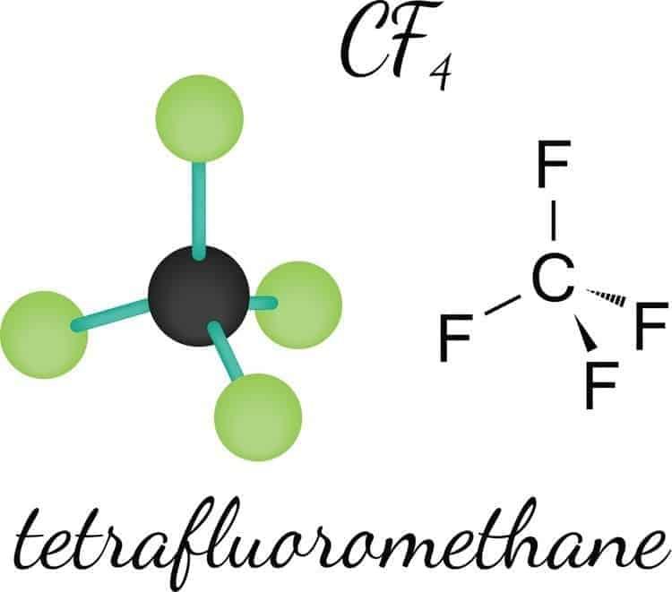 cf4 tetrafluoromethane molecule