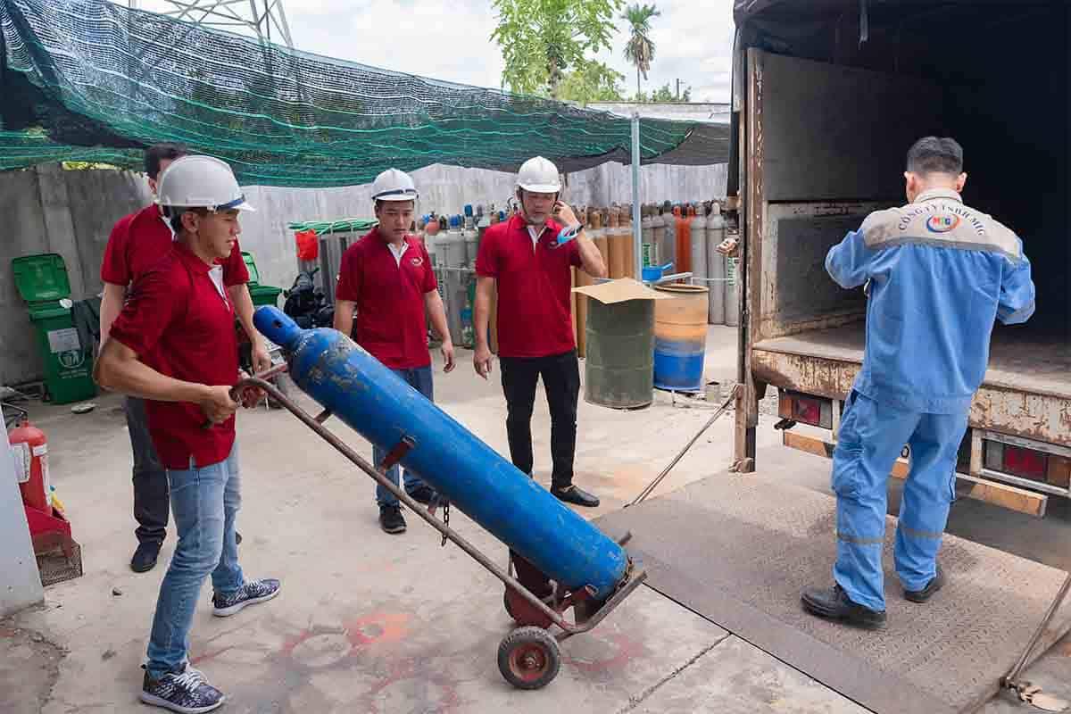 quy trình giao hàng khí công nghiệp