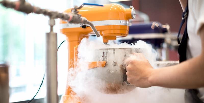 Cách làm kem nito lỏng